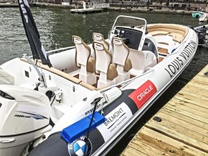 RIB boat by Hysucat with Louis Vuitton livery