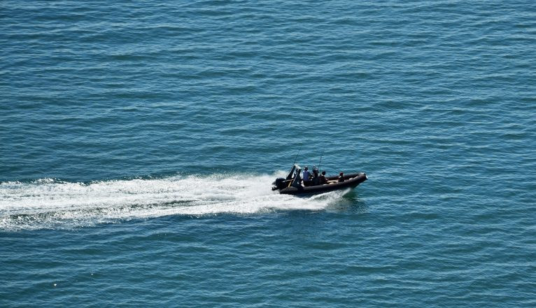 Military Rib Boats Out At Sea